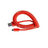 Кабель microUSB SmartBuy (iK-12sp), витой, красный, 1м