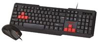 Набор проводной клавиатура + мышь, Smart Buy SBC-230346-KR, черно-красный