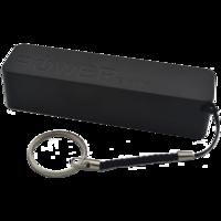 Портативный аккумулятор PowerBank 2200mAh, пластик, черный