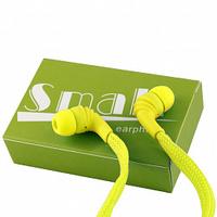 Наушники Small, вакуумные, шнурок, желтый