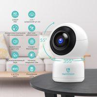 IP-камера HeimVision HM203, 1080p, Wi-Fi, LAN, microSD, вращение 360 гр, ночной режим, белый