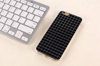 Чехол-накладка на Apple iPhone 5/5S, силикон, в клетку, черный