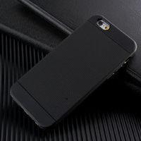 Чехол-накладка на Apple iPhone 6/6S, силикон, Spigen, черный