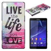 Чехол-накладка на Sony Xperia Z3 compact пластик, live the life you love