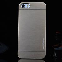 Чехол-накладка на Apple iPhone 4/4S, пластик, алюминий, Motomo, золотистый