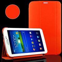 Чехол Smart-cover для Samsung Galaxy Tab 3 7.0, полиуретан, оранжевый