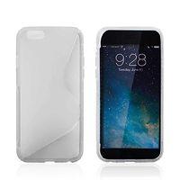 Чехол-накладка на Apple iPhone 6/6S, силикон, S-line, прозрачный