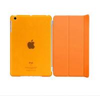 Чехол Smart-cover для Apple iPad mini 1,2,3, полиуретан, разборный, оранжевый
