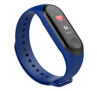 Фитнес-браслет M4, Bluetooth, G-сенсор, 80*160px, 105mAh, синий + черный