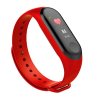 Фитнес-браслет M4, Bluetooth, G-сенсор, 80*160px, 105mAh, красный + синий