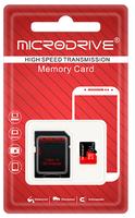 Карта памяти MicroSDHC 64GB MicroDrive, Class 10 (с SD адаптером)