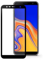 Защитное стекло для Samsung Galaxy J6 Plus (J610) (2018) на дисплей, с рамкой, 4D, черный