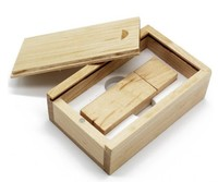 Память USB 2.0 Flash, 32GB, BiNFUL, дерево, wood №5 с боксом, mapple wood