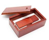 Память USB 2.0 Flash, 32GB, BiNFUL, дерево, wood №5 с боксом, rose wood