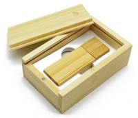 Память USB 2.0 Flash, 32GB, BiNFUL, дерево, wood №5 с боксом, bamboo