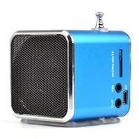 Портативная колонка, TD-V26, FM Radio, microSD, USB, дисплей, синий