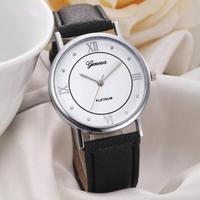 Часы наручные Geneva, ц.белый, р.черный, кожа Д02061