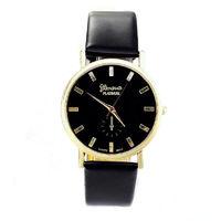 Часы наручные Geneva, ц.черный, р.черный, кожа Д02062