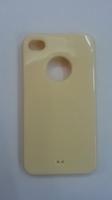 Чехол-накладка на Apple iPhone 4/4S, силикон, вырез, желтый