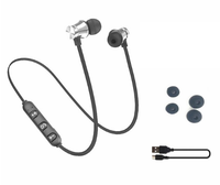 Наушники с микрофоном, FGCLSY, Bluetooth, стерео, магнитные, серебристый