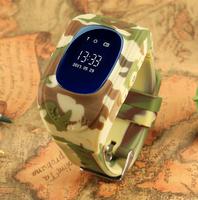 Смарт-часы Q50, детские, Sim, OLED, GPRS, GPS, камуфляж, зеленый