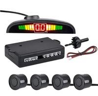 Парктроник Aoshike, 4 датчика, LED дисплей, дат. черный