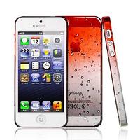 Чехол-накладка на Apple iPhone 4/4S, силикон, капли, оранжевый