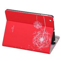 Чехол Smart-cover для Apple iPad 2/3/4, красный с рисунком