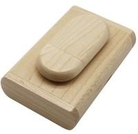 Память USB 2.0 Flash, 32GB, BiNFUL, дерево, wood №2 с боксом, mapple wood