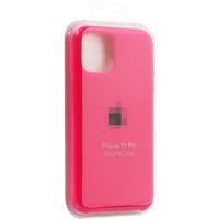 Чехол-накладка на Apple iPhone 11, original design, закрытый, микрофибра, с лого, малиновый