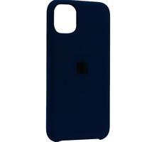 """Чехол-накладка на Apple iPhone 11, original design, закрытый, микрофибра, с лого, """"космический синий"""