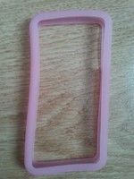 Бампер на Apple iPhone 4/4S, силикон, розовый