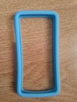 Бампер на Apple iPhone 4/4S, силикон, голубой