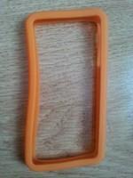 Бампер на Apple iPhone 4/4S, силикон, оранжевый