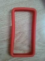Бампер на Apple iPhone 4/4S, силикон, красный