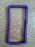 Бампер на Apple iPhone 4/4S, силикон, фиолетовый