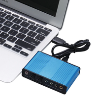 Внешняя звуковая плата USB, CM6206, 5.1, S/PDIF