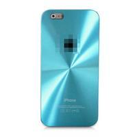 Чехол-накладка на Apple iPhone 4/4S, пластик, алюминий, CD, голубой