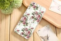 Чехол-накладка на Apple iPhone 6/6S, силикон, flowers 13