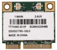 Адаптер miniPCI-e Wi-Fi, для ноутбука, BCM943228HMB, 802.11n/g/b/ac, 300Mbps