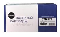 Картридж лазерный NetProduct (N-TN-2075) для Brother HL-2030/2040/2070/7010/7420/7820, 2,5K