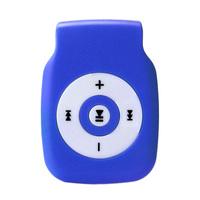 MP3-плеер, microSD, (без кабеля, без наушников), голубой