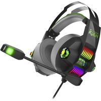 Гарнитура проводная, 3,5мм, игровая, Smart Buy RUSH STORMER, полноразмерная, LED подсветка, черный,
