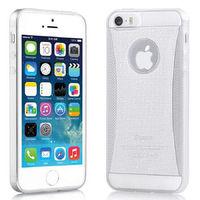 Чехол-накладка на Apple iPhone 6/6S, силикон, блестящий, белый