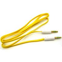 Кабель аудио AUX  jack 3.5мм - jack 3.5мм, 1м, желтый