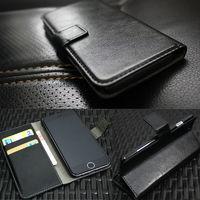 Чехол-книжка на LG F60 (D390) кожа, черный