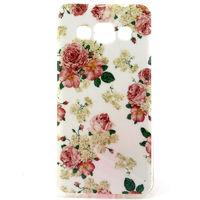 Чехол-накладка на Samsung A3 силикон, цветы 3