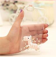 Чехол-накладка на Apple iPhone 6/6S, пластик, 3D зебра