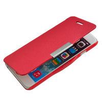 Чехол-книжка на Apple iPhone 6/6S, кожа, магнитный, красный