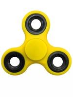 Спиннер, 3 спиц, 1 подш., металл, 7.5*7.5 см, желтый, черный